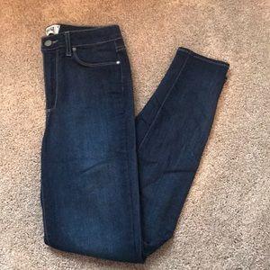 Paige denim dark wash skinny jeans